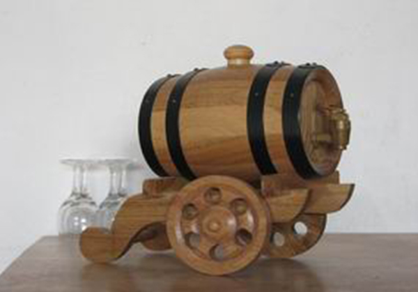 原木色炮车式橡木桶