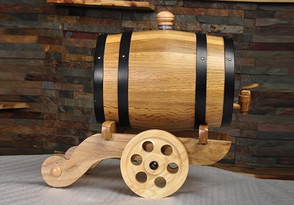 炮车式本色橡木桶